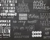INSTANT DOWNLOAD - Pack of 12 Photoshop Brushes for Newborns and Babies