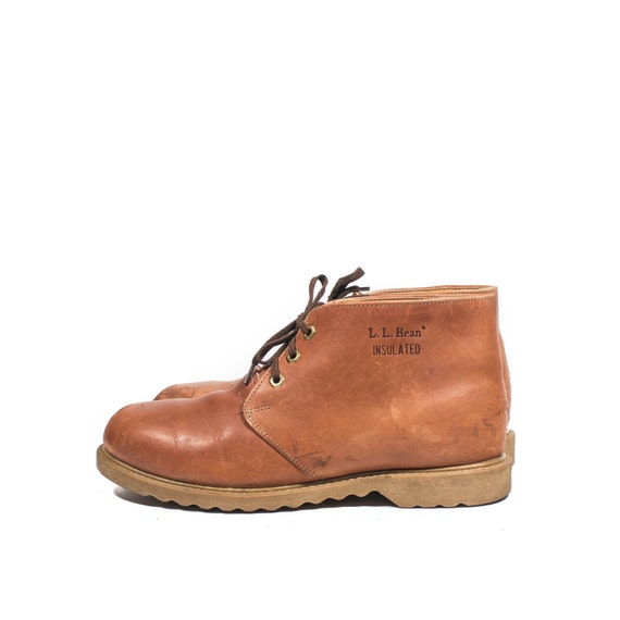 s l l bean chukka boots orange brown leather