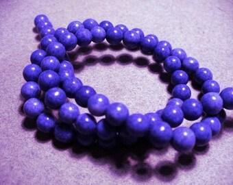 Jasper Beads Gemstone Blue 6MM