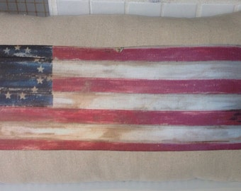 American flag relaxed country pillow