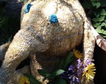 Amelia the hand knit Elephant
