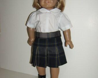 18 inch Doll School Uniform Skirt Plaid 87
