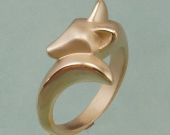 fox kit ring ,bronze