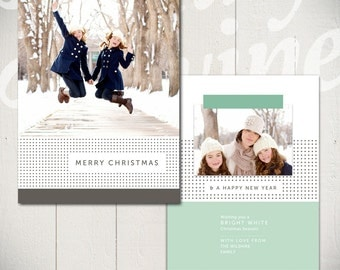 Christmas Card Template: Bright White D - 5x7 Holiday Card Template for Photographers