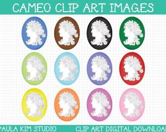 cameo clipart, clip art cameo images, instant digital download, vintage clip art, antique clip art, vintage clipart