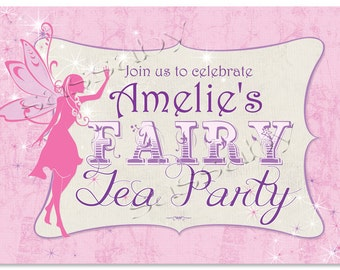 Fairy Party Sign - INSTANT DOWNLOAD - DIY Editable & Printable Girls Birthday Decorations by Sassaby