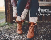 Crochet Boot Cuffs, & Fingerless Gloves Pattern, Winter Fashion Accessory, Crochet Leg Warmers, Crochet Gloves, Women