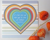 Dreams & Love Card/Valentines Card, Anniversary Card, Love Card, French Quote by Poet Anna de Noailles