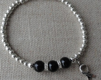 097 Melanoma Cancer Awareness Bracelet
