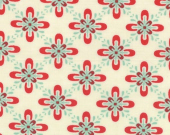 Baby Jane by Eric and Julie Comstock for Moda - Giddy in Scarlet on Cream