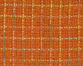 Orange Boucle/Orange Wool Blend Fabric/75 percent Wool 25 percent Polyester/Fabric By The Yard/Fabric by the Half Yard/PRICES VARY
