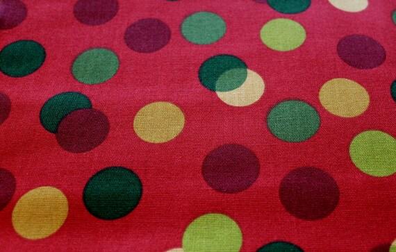 Home Decor Fabric, Christmas Fabric, Holiday Fabric, Red Polka Dot ...