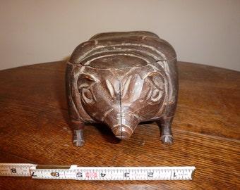 Folk Art Pig Box
