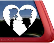 Border Collie Love | DC857HRT | High Quality Adhesive Vinyl Border Collie Window Decal Sticker