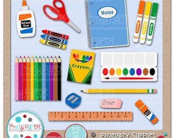 Primary Supplies Cutting Files & Clip Art - Instant Download