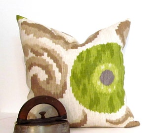 Decorative Pillow Cover Ikat 18-inch Accent Pillow Handmade Pillow