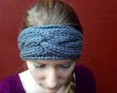 Gray Weave Headband