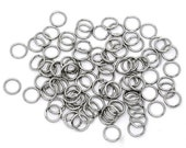 10mm Thick STAINLESS STEEL Thick Open Jump Rings 16 gauge wire Findings, 200 rings, jum0014