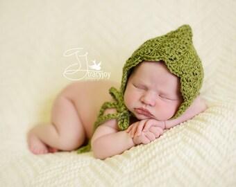 Pixie Hat Newborn GREEN