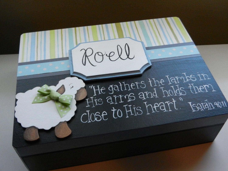 keepsake memory box bereavement baby boy sheep. Black Bedroom Furniture Sets. Home Design Ideas