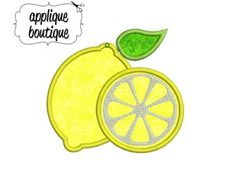 INSTANT DOWNLOAD, Machine Applique Design, Lemons