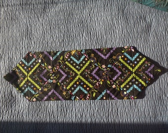 Neon Floral Quilted Table Runner