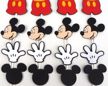 12 or 16 You Choose Mickey Mouse Themed Cupcake Toppers Mickey Mouse Clubhouse Birthday Party
