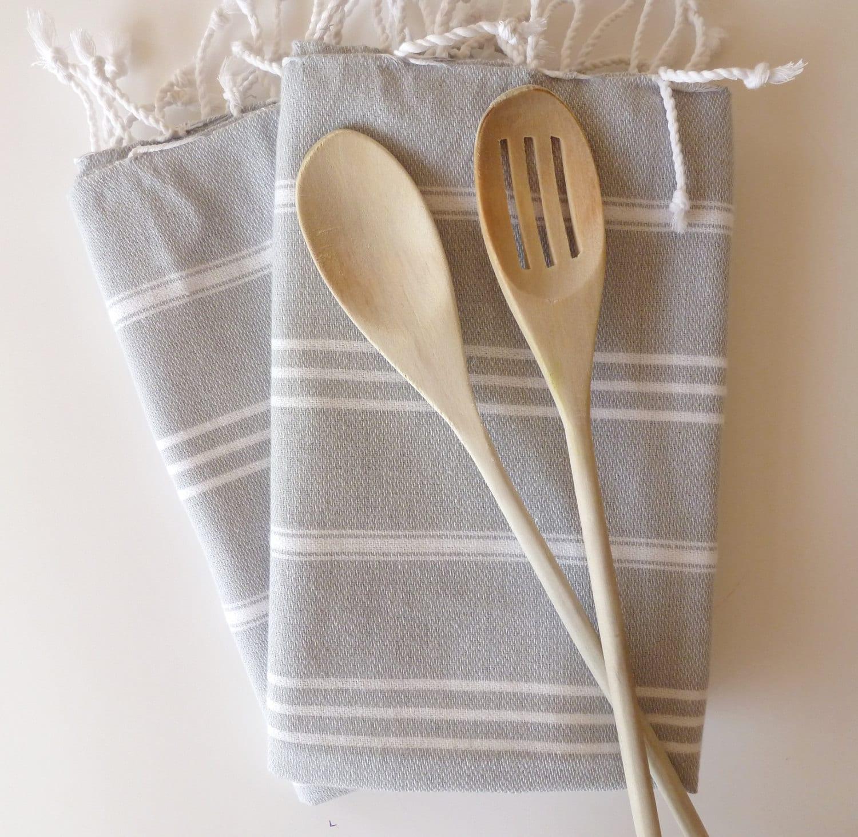 set of 2 turkish ecofriendly hand towel peshkir tea towel. Black Bedroom Furniture Sets. Home Design Ideas