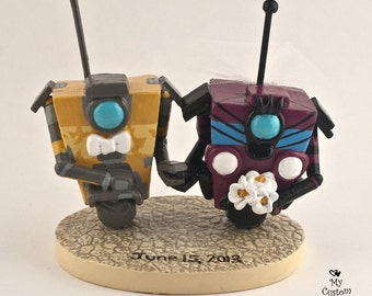 Claptrap Wedding Cake Topper from Borderlands