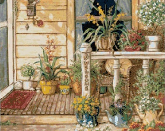 Country Porch 4 Cross Stitch Pattern