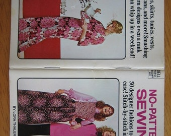 NO-PATTERN SEWING Dell Purse Book by Lora Thaler  1972