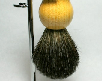 Black Badger Shave Brush with Stands