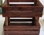 Wooden Fruit Crate - Red oak color