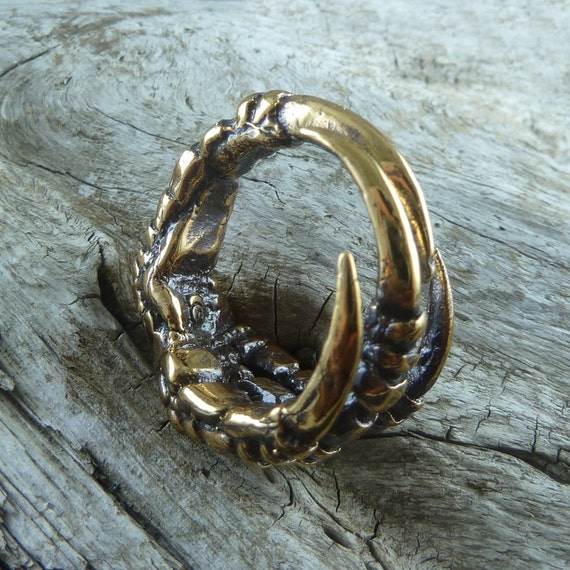 Crow Claw Ring Bronze Bird Claw Ring Talon Ring