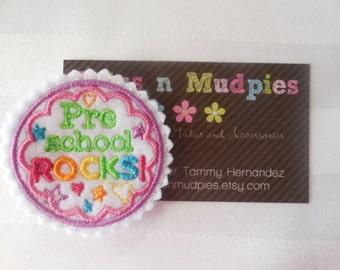 Preschool Rocks - Feltie Hair Clips