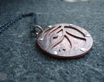 Copper Eye of Ra Pendant - Egyptian - Handcrafted