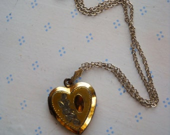 Gold Filled Heart Locket on chain