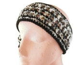 Headband, Hairband or Earwarmers in Blacks and Greens. Hair Accessories, Winter Accessories,