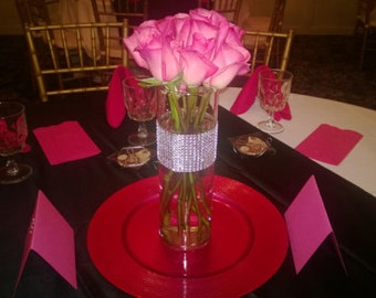 Wedding centerpiece tall vase | Etsy