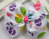 Easter Pinwheel Hair Bow - Easter Hair Bow - Girls Easter Bow