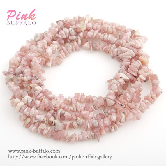 Small Size Beads: Rhodochrosite Chips Beads Small Size 3-6mm Strand