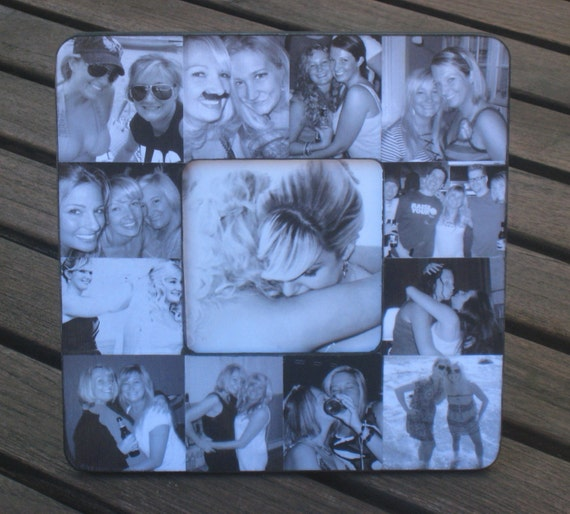 """Personalized Maid of Honor Picture Frame, Unique Custom Collage Sister Gift, Bridesmaid Frame, 8"""" x 8"""""""