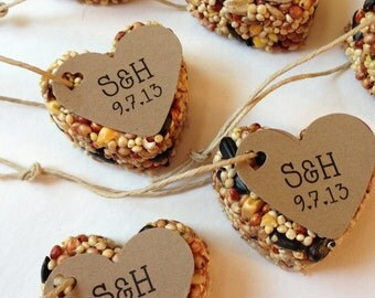 50 Bird Seed Favors - MINI favors - Wedding and Events - Personalized