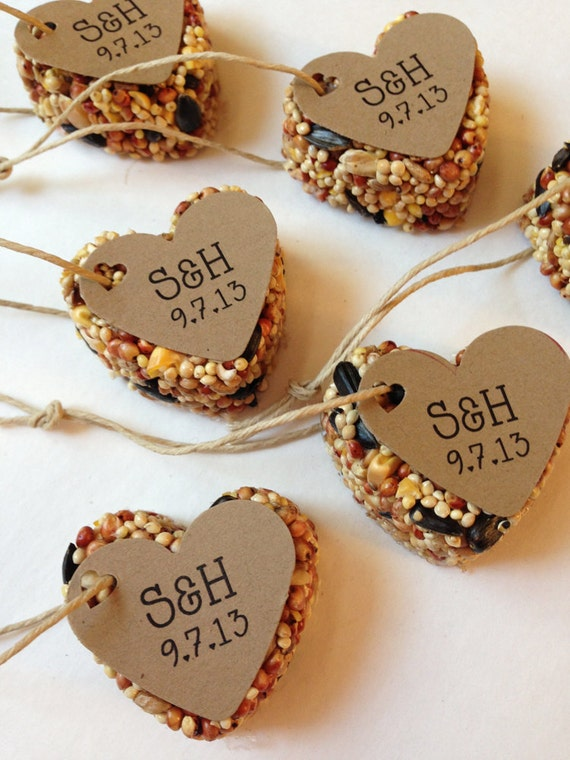 50 Bird Seed Heart Shaped Favor MINI Wedding And Events