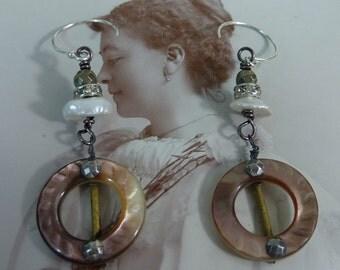 ANTIQUE VICTORIAN BUCKLES  vintage assemblage earrings