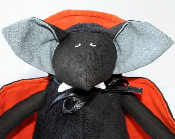 Vampire Bat for Halloween stuffed toy, plush animal, kids halloween toy, colorful winged bat plushie