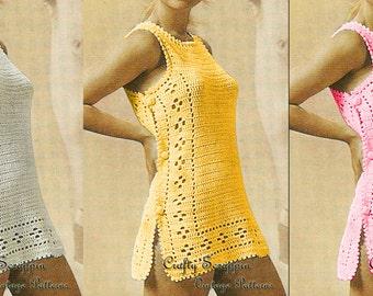 HUGE SALE!! 1960's Sirdar Swimsuit Coverup PATTERN