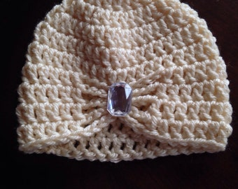 Butterfly beanie with jewel - NB