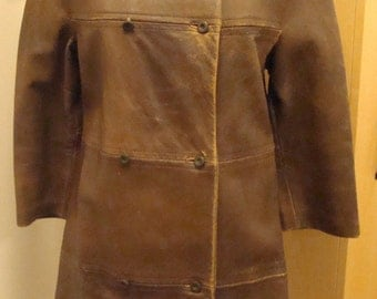 Mod leather coat