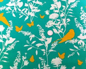 Joel Dewberry, Bungalow Swallow Study in Emerald, Free Spirit Westminster Fibers (1 yard) SALE SALE SALE